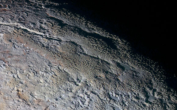 Scientists Offer Sharper Insight into Pluto's Bladed Terrain