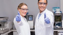 Scientists Thumbs Up Approval Concept