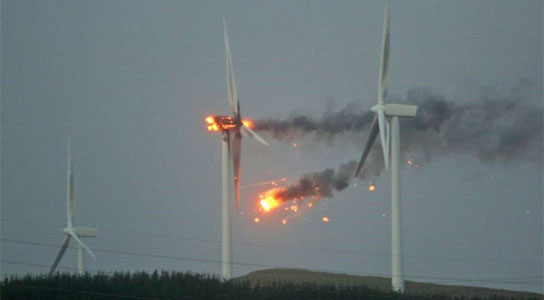 Scottish Wind Turbine Explodes