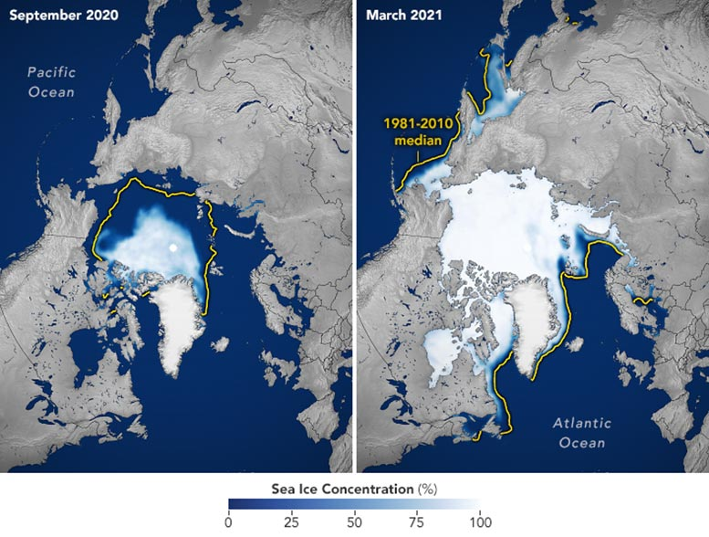 Sea Ice Highs and Lows 2020 21