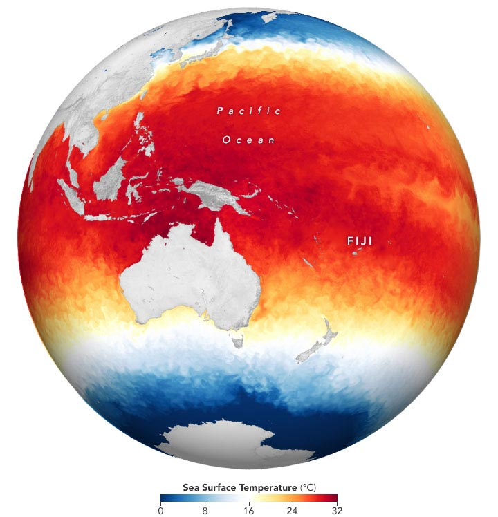 Sea Surface Temperature December 15 2020 Annotated