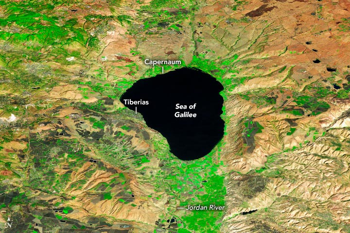 Sea of Galilee 2020 Annotated