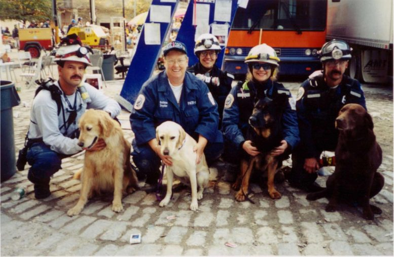 Search Dogs and Handlers Ground Zero