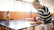 Senior Playing Ping-Pong