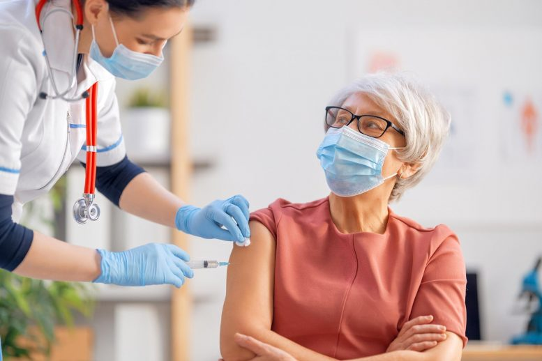 Senior Woman Vaccination Injection