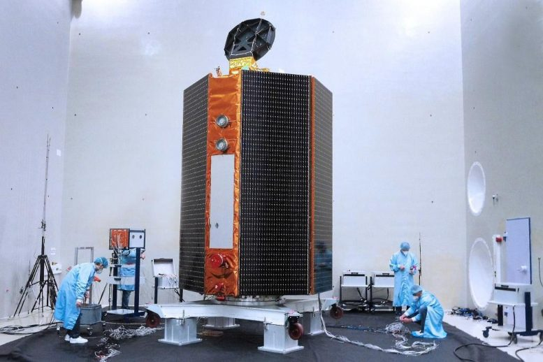 Sentinel-6 Satellite Acoustic Testing