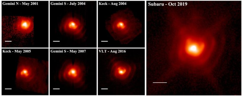 Sequence of 7 mid-IR Images of WR 112