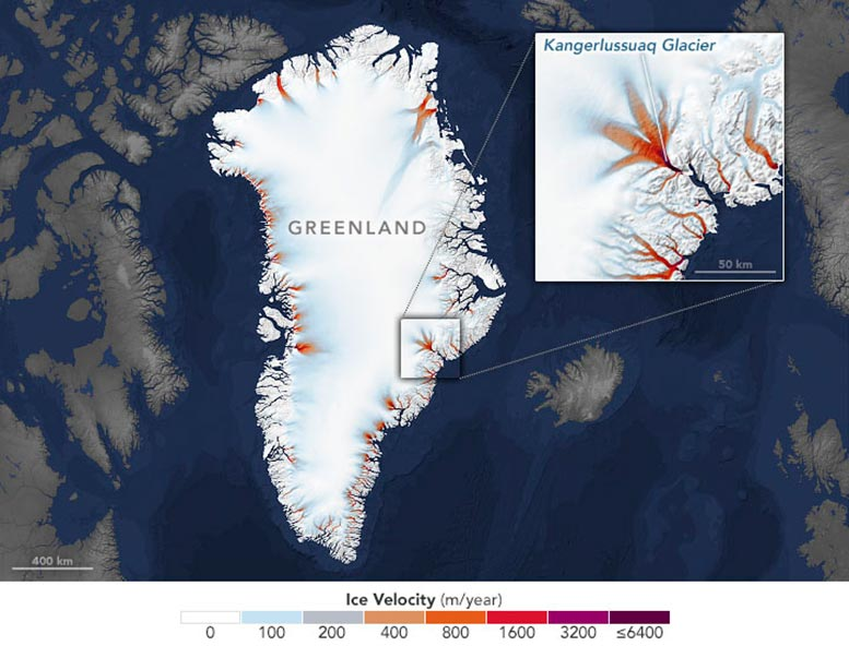 Shrinking Margins of Greenland Annotated