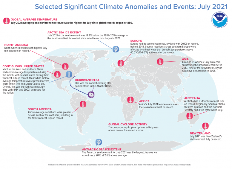 Significant Climate Events July 2021
