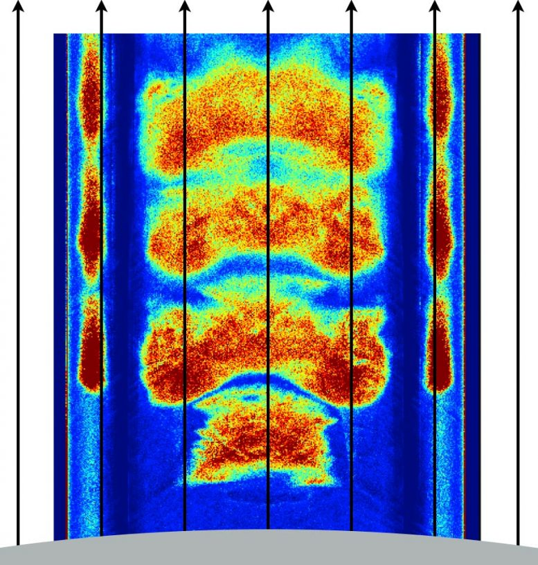 Simulated Density Distribution of Electron-Positron Plasma