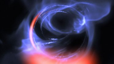 New Observations Show Clumps of Gas Swirling Around Black Hole