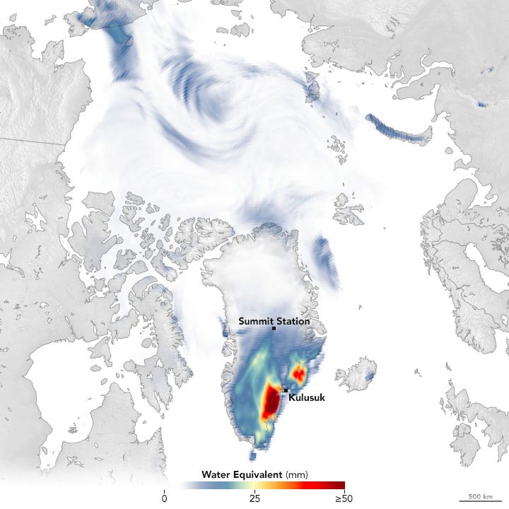 Snowfall in Greenland September 2021 Annotated
