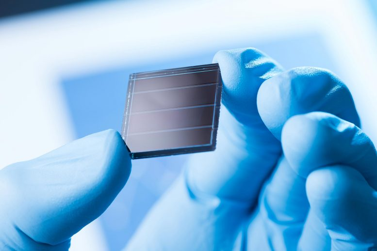 Solar Cell Research Concept