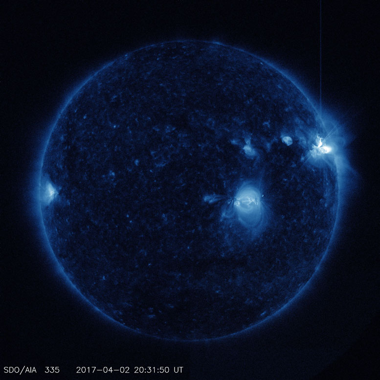 Solar Dynamics Observatory Captured Trio of Solar Flares