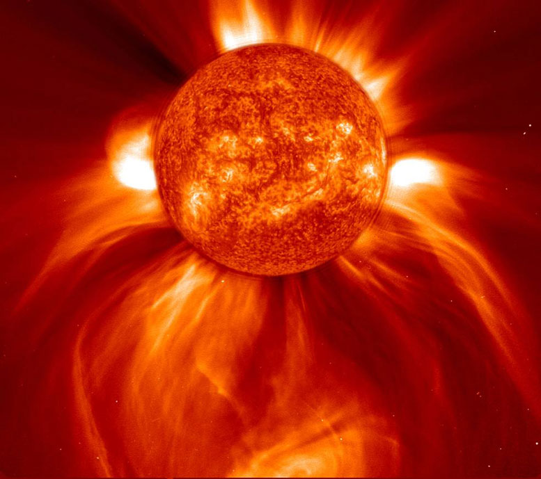 Solar Eruptions Could Electrify the Moons of Mars