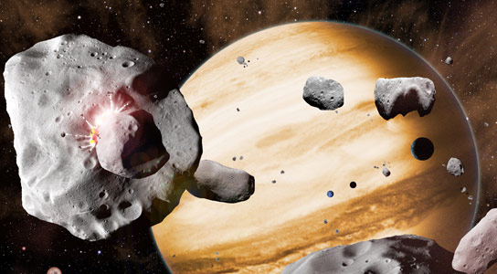 Solar System Evolution from Mapping of the Asteroid Belt