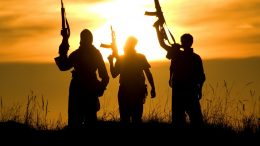 Soldiers Insurgents Sunset