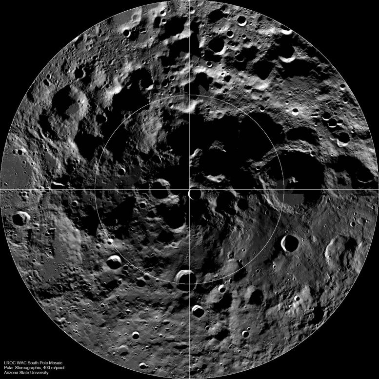 South Pole of the Moon Mosaic Image