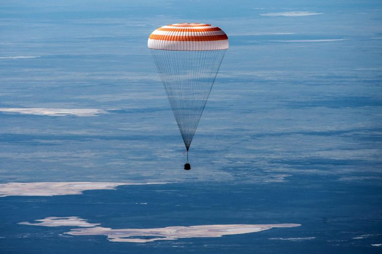 Soyuz MS-15 Spacecraft Landing