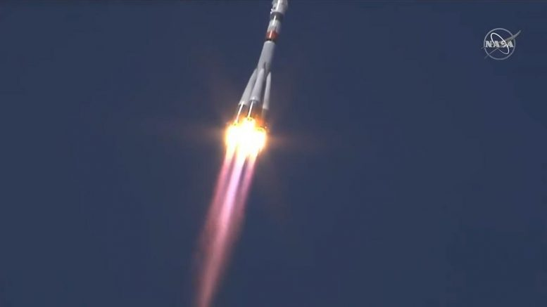 Soyuz MS-18 Rocket Blasts Off