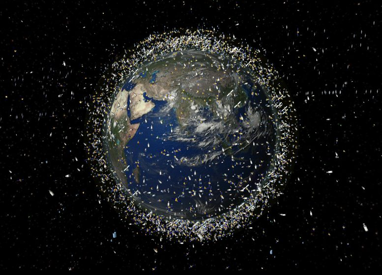 Space Debris Objects Low Earth Orbit