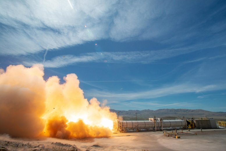 Space Launch System Hot Fire Test