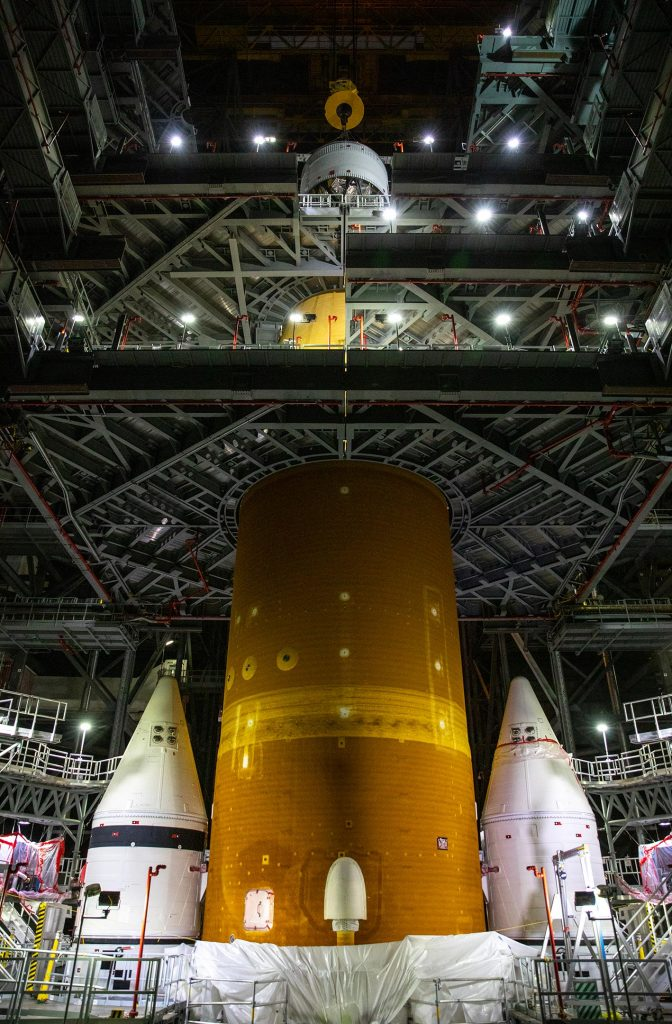 Space Launch System Rocket Assembly