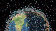 Space Objects Debris Surrounding Earth