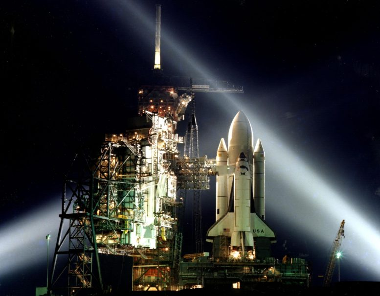 Space Shuttle STS-1 at Launch Pad A