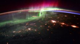 Space Station Image of Aurora and the Pacific Northwest