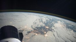 SpaceX Cargo Dragon Above Northern France