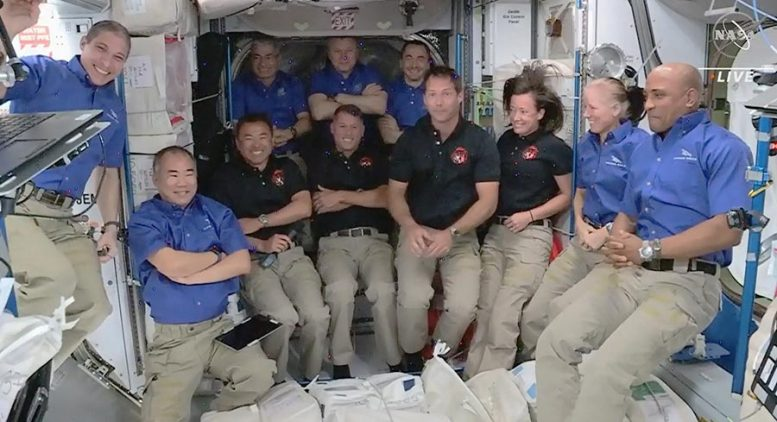 SpaceX Crew-2 Astronauts Join Expedition 65 Crew