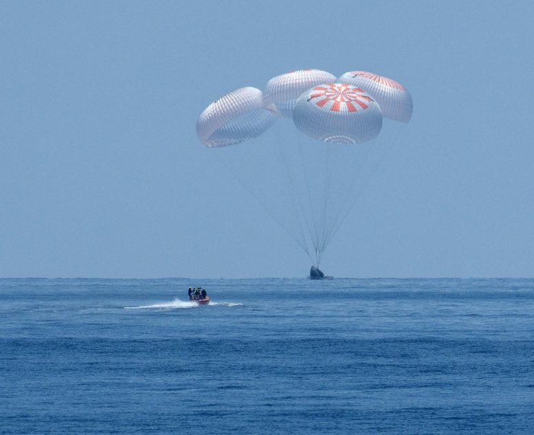 SpaceX Crew Dragon Endeavour Spacecraft Splashdown