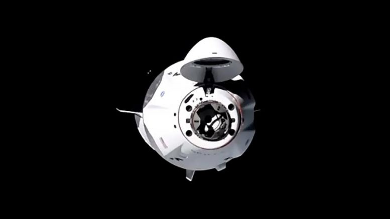 SpaceX Crew Dragon Spacecraft Approaches ISS