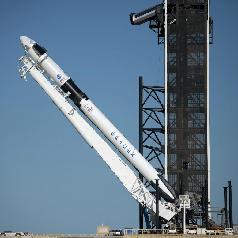 SpaceX Falcon 9 Rocket With Crew Dragon Spacecraft
