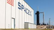 SpaceX Falcon 9 Rocket with Crew Dragon Spacecraft Launch Complex