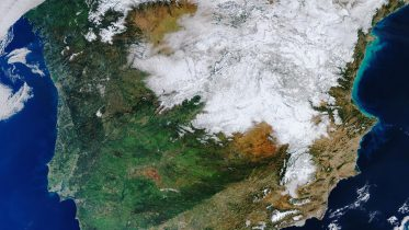 Spain Heavy Snowfall Satellite Image