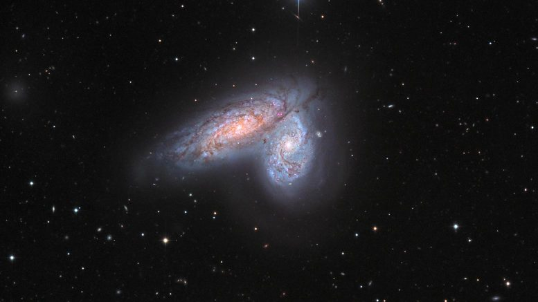 Spiral Galaxy Pair NGC 4567 and NGC 4568