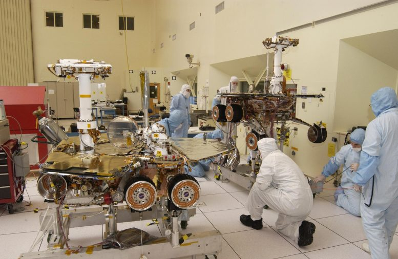 Spirit and Opportunity Mars Rovers Being Tested