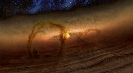 Spitzer Explains Mystery of Planet Forming Disks