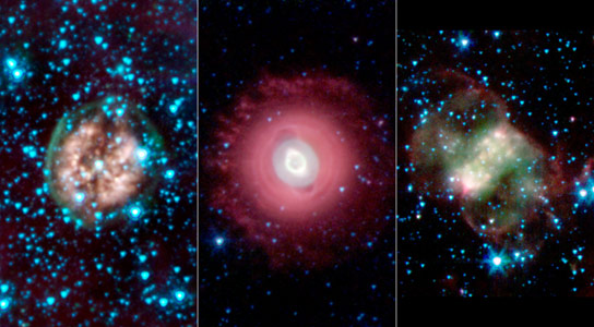 Spitzer Space Telescope Views Planetary Nebulas