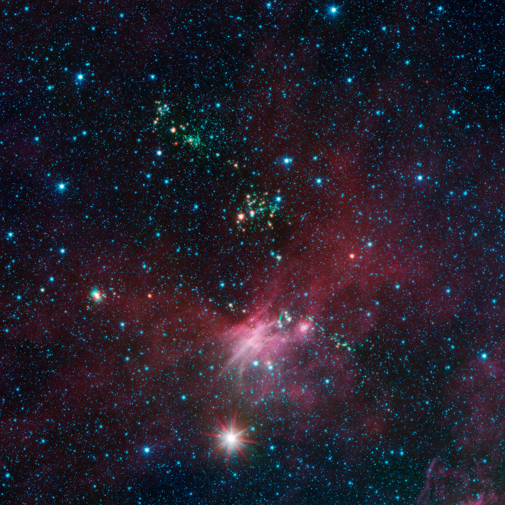 Spitzer Views Birth And Death Of Stars At The Outer Edges Of The Galaxy