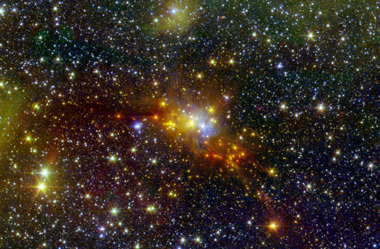 Spitzer Views Star Forming Region Serpens Cloud Core