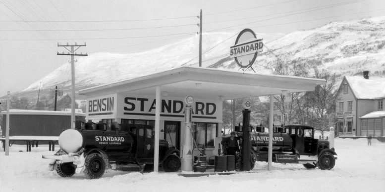 Standard Oil Gas Station in Norway