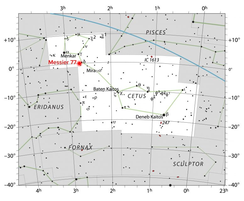 Star Chart Location NGC 1068