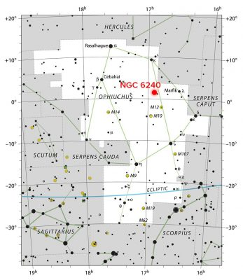 Star Chart Location NGC 6240
