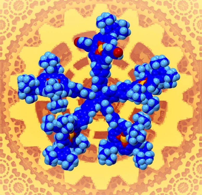 Star-Shape Molecule As Gear Prototype