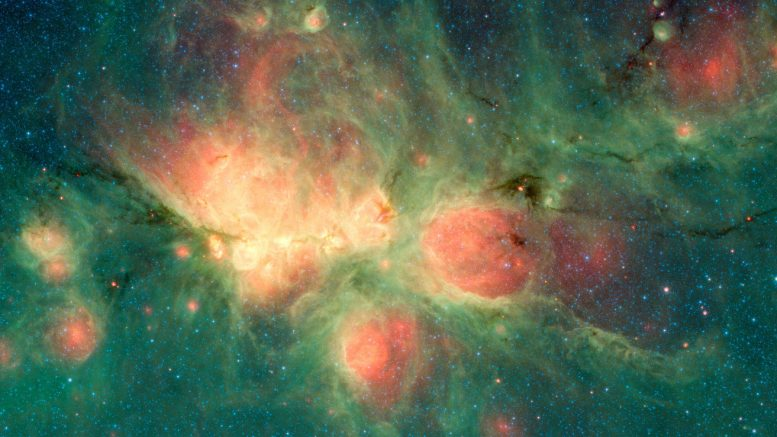 Stars Blow Bubbles in the Cat's Paw Nebula