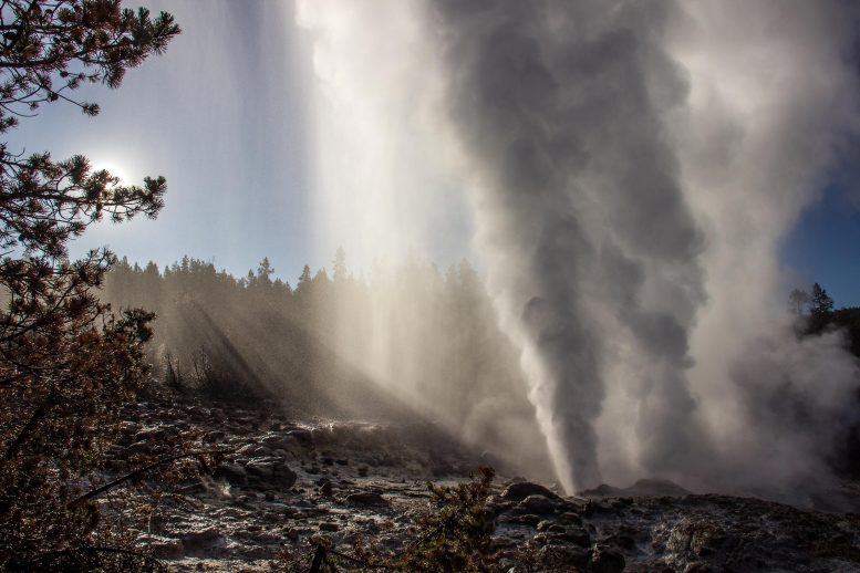 Steamboat Geyser Eruption in 2019