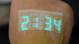 Stretchable Stopwatch Lights up Human Skin